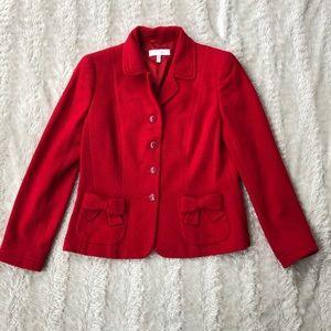 Escada gorgeous silk/wool bright red sz 40 blazer